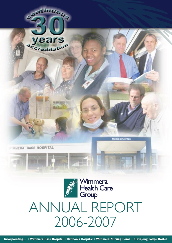 Annual Report Cover 2006 2007