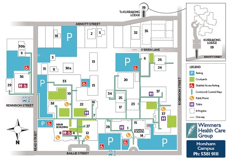 Campus Map for Parking